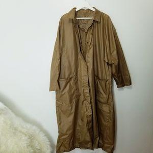TOTES Tan Nylon Rain Poncho with bag sz M/L -C12